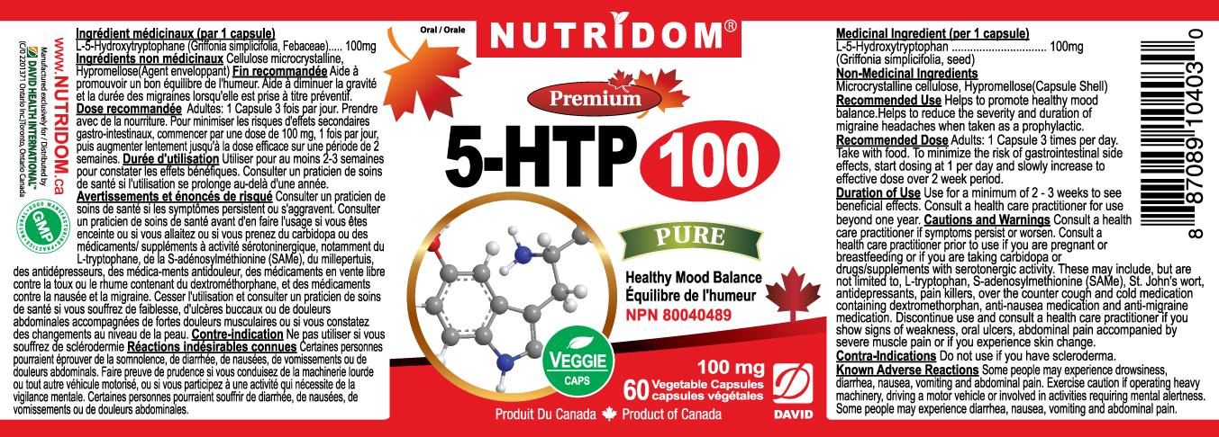 [Nutridom] 5-HTP 100mg 60 Caps
